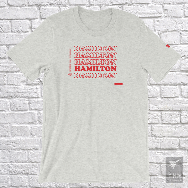 "YHM Designs - Hamilton ""Thank You"" Bag T-Shirt - Hamilton Ontario Canada Gift - Christmas Birthday - 4"