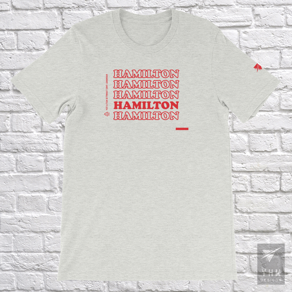"YHM Designs - Hamilton ""Thank You"" Bag T-Shirt - Hamilton Ontario Canada Gift - Christmas Birthday - 5"