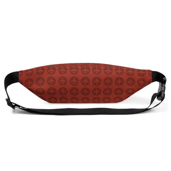 YHM Designs  •  Jetliner Roundel Design Fanny Pack • Oxblood Red 4