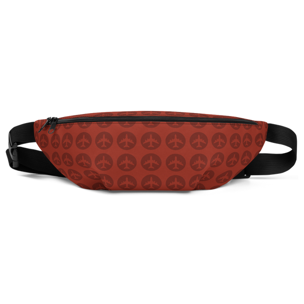 YHM Designs  •  Jetliner Roundel Design Fanny Pack • Oxblood Red 2