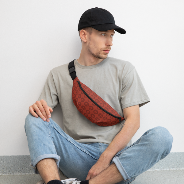 YHM Designs  •  Jetliner Roundel Design Fanny Pack • Oxblood Red 5