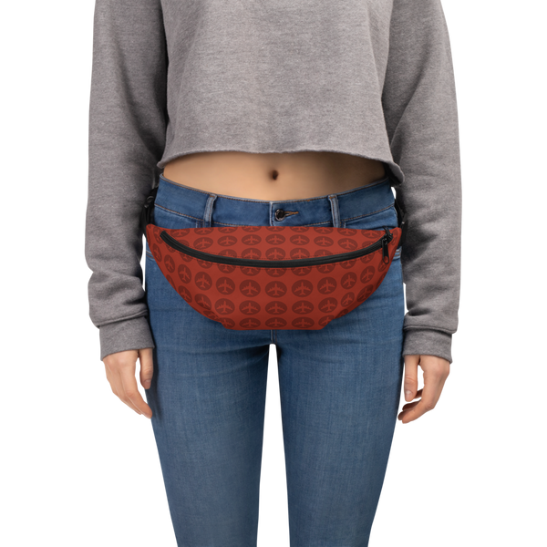 YHM Designs  •  Jetliner Roundel Design Fanny Pack • Oxblood Red 6