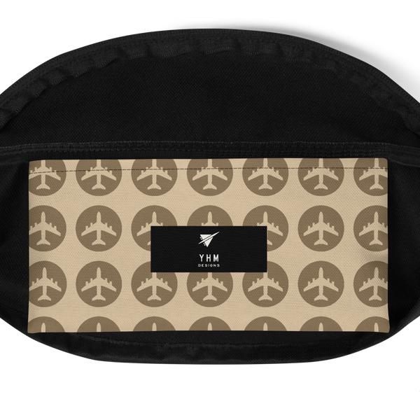 YHM Designs  •  Jetliner Roundel Design Fanny Pack • Oxblood Red 10