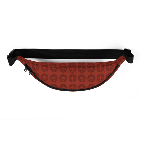 YHM Designs  •  Jetliner Roundel Design Fanny Pack • Oxblood Red 3