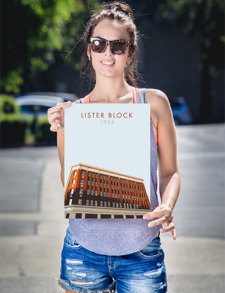 "YHM Designs - Lister Block Poster 12""x16"" 2"