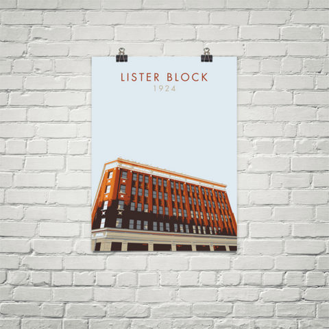 "YHM Designs - Lister Block Poster 18""x24"" 1"