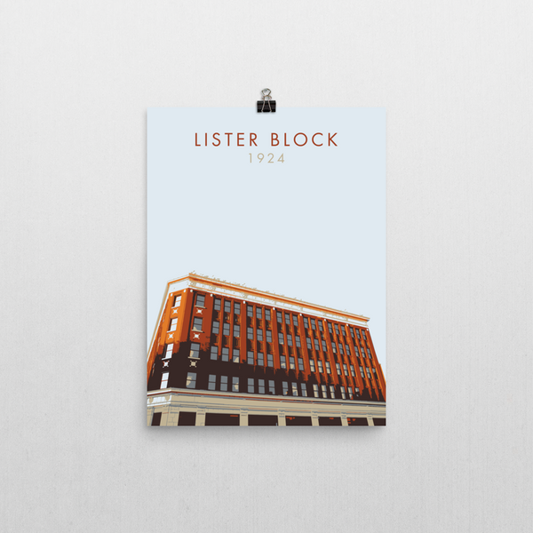 "YHM Designs - Lister Block Poster 12""x16"" 1"
