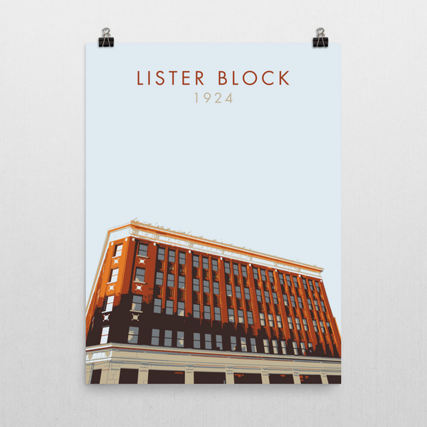 "YHM Designs - Lister Block Poster 18""x24"" 2"