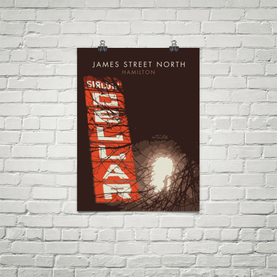 "YHM Designs - James Street North Sirloin Cellar Poster 18""x24"" 1"