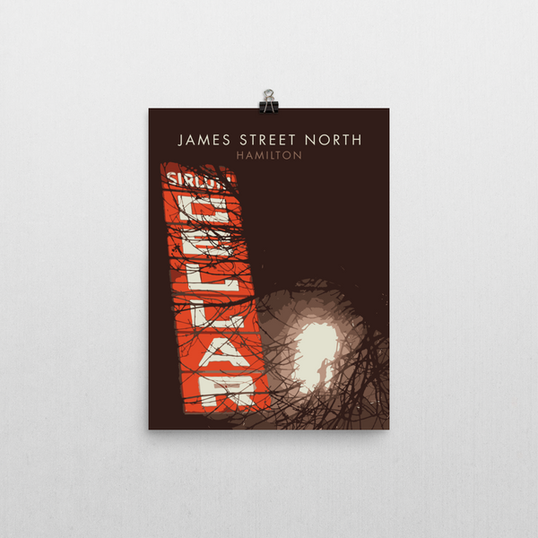 "YHM Designs - James Street North Sirloin Cellar Poster 12""x16"" 1"