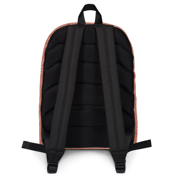 "YHM Designs  •  Split-Flap Display 15.6"" Laptop Backpack • Copper 4"