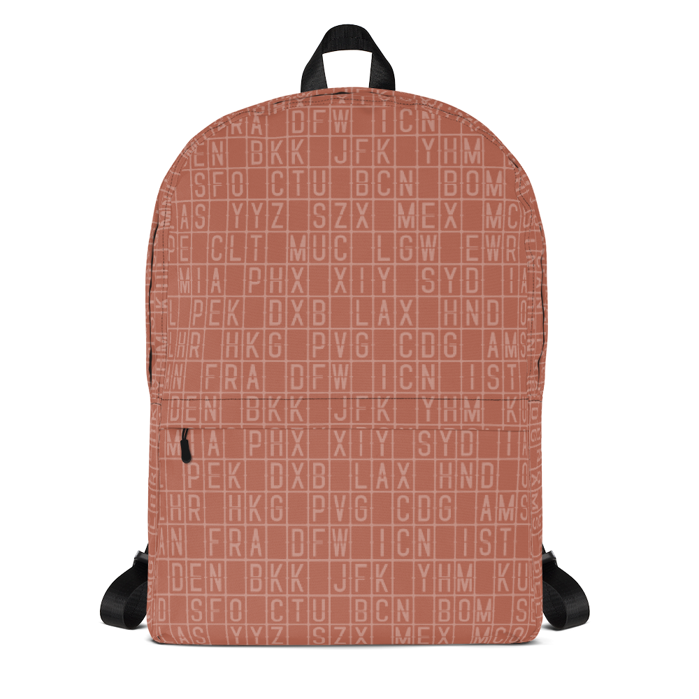 "YHM Designs  •  Split-Flap Display 15.6"" Laptop Backpack • Copper 1"