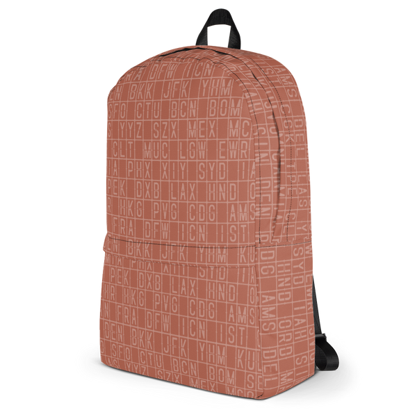 "YHM Designs  •  Split-Flap Display 15.6"" Laptop Backpack • Copper 3"