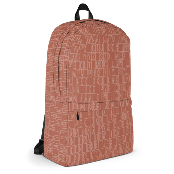 "YHM Designs  •  Split-Flap Display 15.6"" Laptop Backpack • Copper 2"
