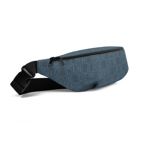 YHM Designs  •  Split-Flap Display Fanny Pack • Blue-Grey 1