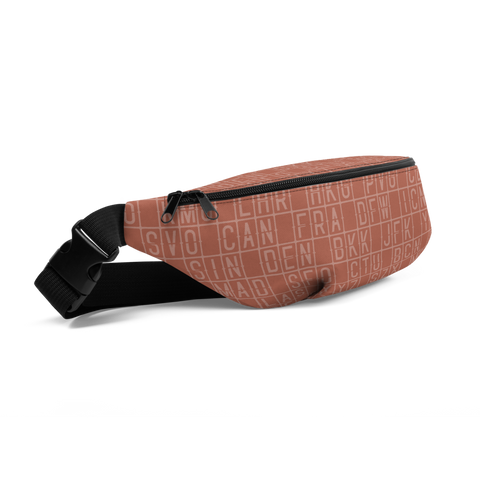 YHM Designs  •  Split-Flap Display Fanny Pack • Copper 1