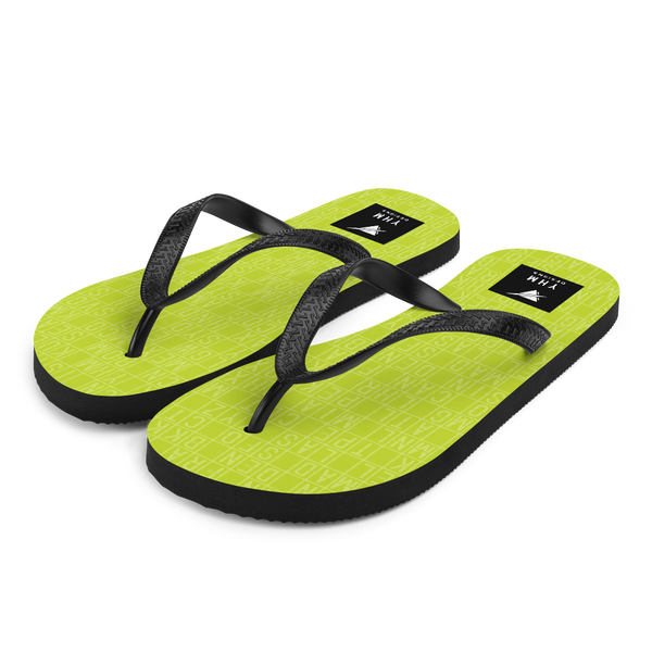 YHM Designs  •  Split-Flap Display Flip-Flops • Bright Lime Green 5