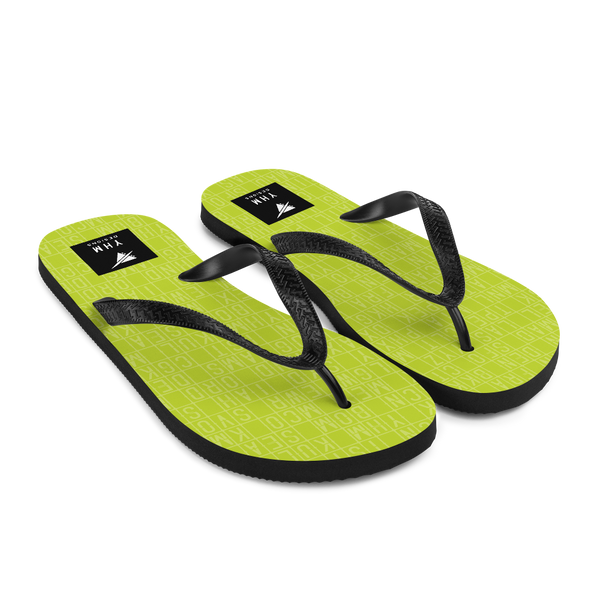 YHM Designs  •  Split-Flap Display Flip-Flops • Bright Lime Green 7