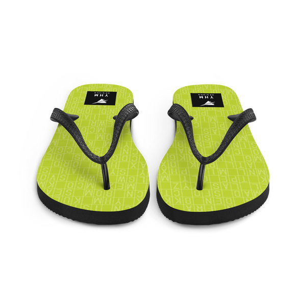 YHM Designs  •  Split-Flap Display Flip-Flops • Bright Lime Green 4