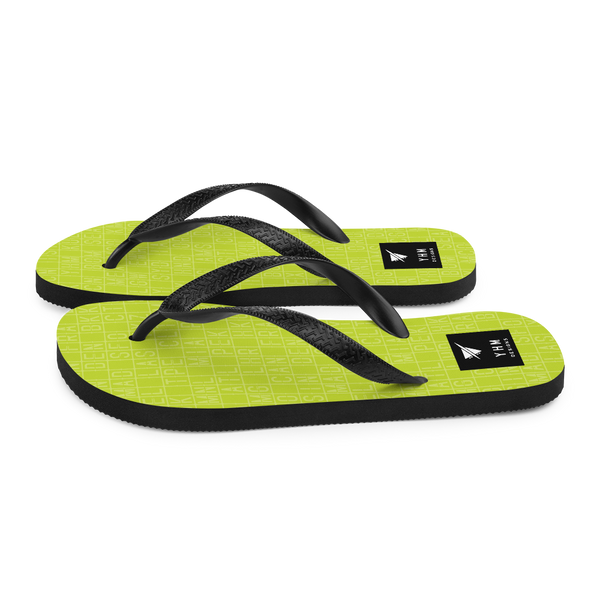 YHM Designs  •  Split-Flap Display Flip-Flops • Bright Lime Green 6