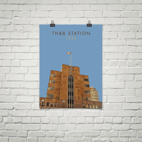 "YHM Designs - TH&B Station Poster 18""x24"" 1"