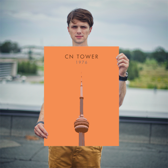 "YHM Designs - CN Tower Toronto Poster - 18""x24"" Person"