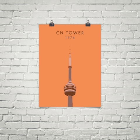 YHM Designs - CN Tower Toronto Poster - Wall