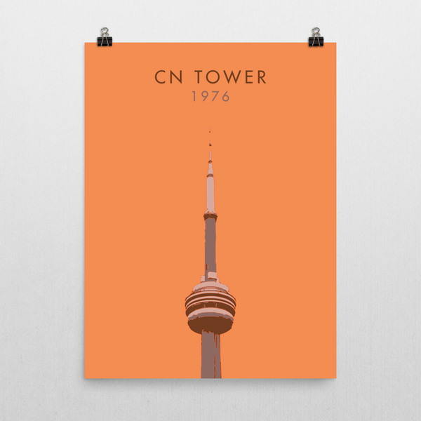 "YHM Designs - CN Tower Toronto Poster - 18""x24"" Wall"
