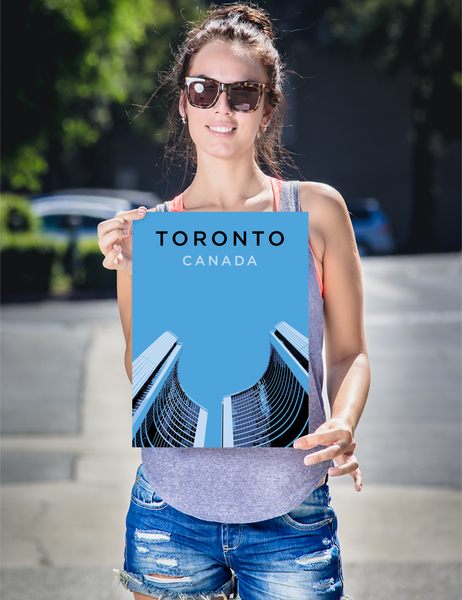 "YHM Designs - Toronto City Hall Poster - 12""x16"" Person"
