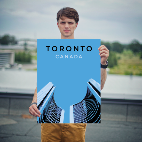 "YHM Designs - Toronto City Hall Poster - 18""x24"" Person"