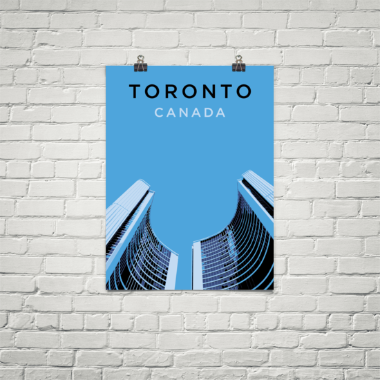 YHM Designs - Toronto City Hall Poster - Wall