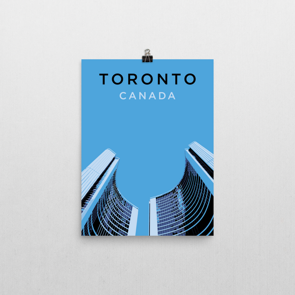 "YHM Designs - Toronto City Hall Poster - 12""x16"" Wall"