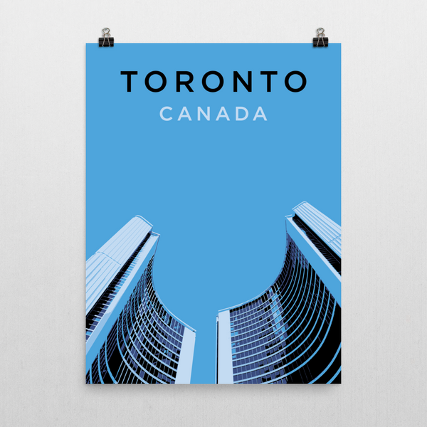 "YHM Designs - Toronto City Hall Poster - 18""x24"" Wall"