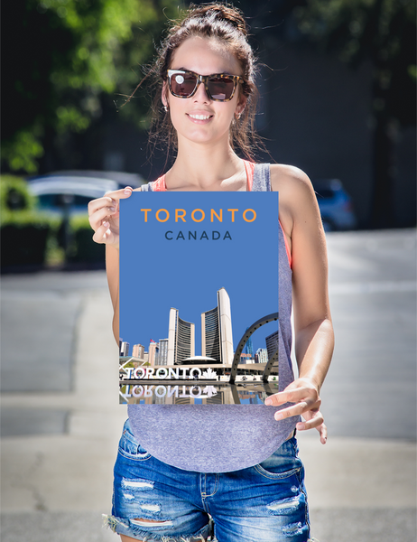 "YHM Designs - Nathan Phillips Square Toronto (1) Poster - 12""x16"" Person"