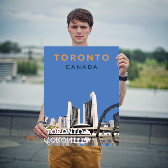"YHM Designs - Nathan Phillips Square Toronto (1) Poster - 18""x24"" Person"