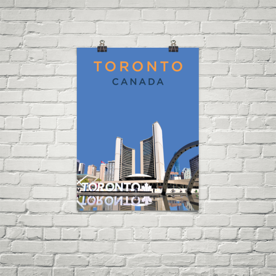 YHM Designs - Nathan Phillips Square Toronto (1) Poster - Wall