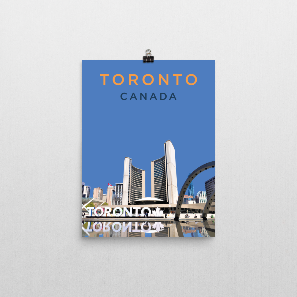 "YHM Designs - Nathan Phillips Square Toronto (1) Poster - 12""x16"" Wall"
