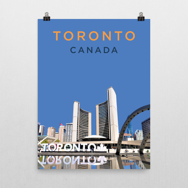 "YHM Designs - Nathan Phillips Square Toronto (1) Poster - 18""x24"" Wall"