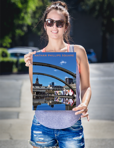 "YHM Designs - Nathan Phillips Square Toronto (2) Poster - 12""x16"" Person"