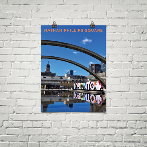 YHM Designs - Nathan Phillips Square Toronto (2) Poster - Wall