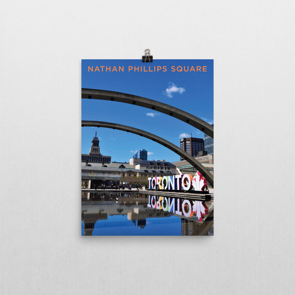 "YHM Designs - Nathan Phillips Square Toronto (2) Poster - 12""x16"" Wall"