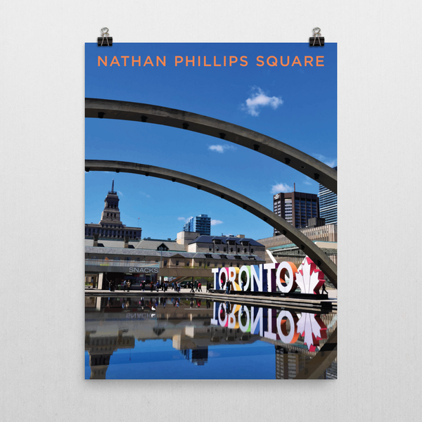 "YHM Designs - Nathan Phillips Square Toronto (2) Poster - 18""x24"" Wall"