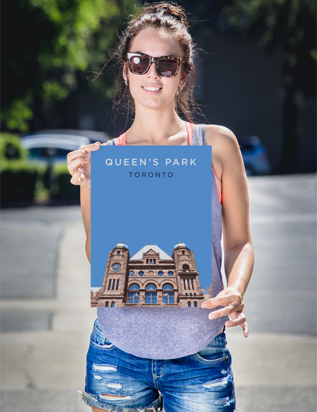 "YHM Designs - Queen's Park Toronto Poster - 12""x16"" Person"