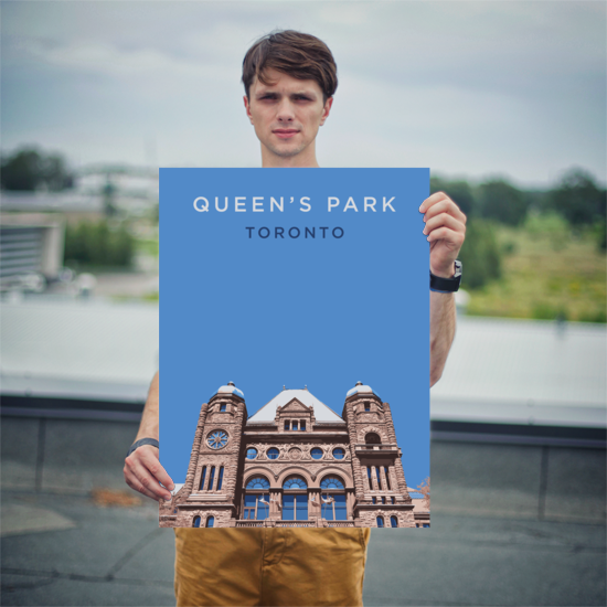 "YHM Designs - Queen's Park Toronto Poster - 18""x24"" Person"