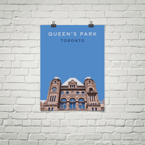 YHM Designs - Queen's Park Toronto Poster - Wall