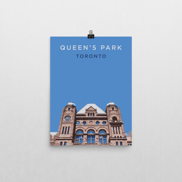 "YHM Designs - Queen's Park Toronto Poster - 12""x16"" Wall"