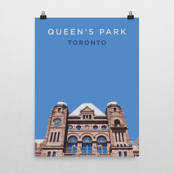 "YHM Designs - Queen's Park Toronto Poster - 18""x24"" Wall"