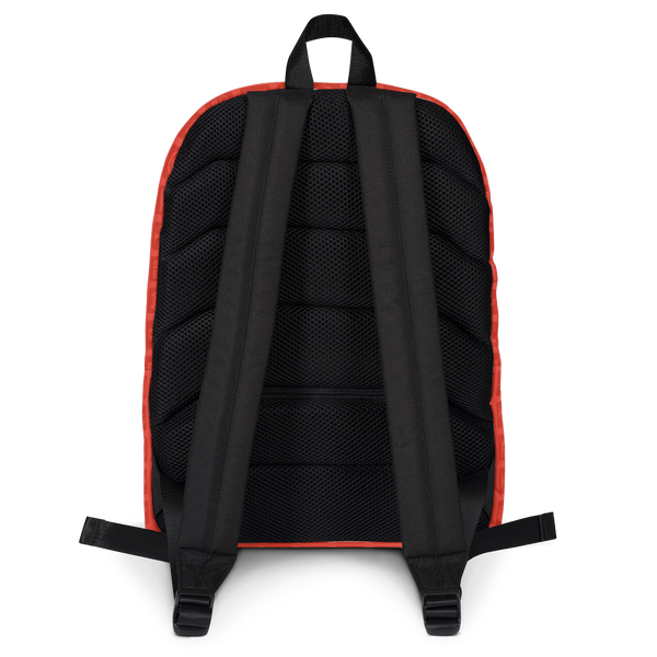 "YHM Designs  •  Airport Symbols 15.6"" Laptop Backpack • Cherry Tomato Red 4"
