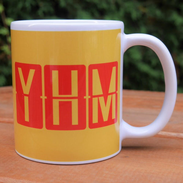 YHM Designs - Airport Code Coffee Mug With Split-Flap Display Design 01