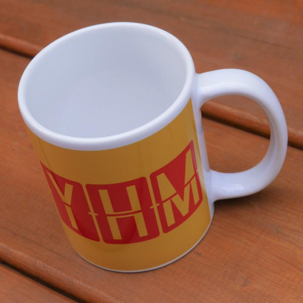 YHM Designs - Airport Code Coffee Mug With Split-Flap Display Design 02